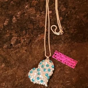 Betsey Johnson Heart Pendant Necklace